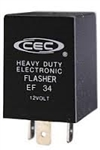 EF34 FIXED LOAD ELECTRONIC FLASHER,#EF-34,EF34,#BP7058,HAZARD WARNING FLASHER,TURN SIGNAL FLASHER, ELECTRONIC FLASHER,