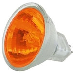 10W/12V MR11 WITH ORANGE LENSE, 10W/12V ORANGE, AMERICAN DJ, ZB-MR11-O, ORANGE MR11, FIREBOWL BULB, FIREBOWL LAMP