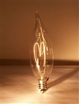 15B10/E12/FLAME TIP 120V 15 WATT CARBON FILAMENT E12 BASE, B10 FLAME TIP CARBON FILAMENT, CARBON FILAMENT, ANTIQUE REPRODUCTION LIGHT BULB, ANTIQUE LIGHT BULBS, ANTIQUE LAMPS, ANTIQUE BULBS, CENTENNIAL LAMP, CENTENNIAL LIGHT BULB