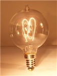 15G16/E12/CLEAR GLOBE 120V 15 WATT CARBON FILAMENT E12 BASE, G16-1/2 CARBON FILAMENT, G-16-1/2 CARBON FILAMENT, ANTIQUE REPRODUCTION LIGHT BULB, ANTIQUE LIGHT BULBS, ANTIQUE LAMPS, ANTIQUE BULBS, CENTENNIAL LAMP, CENTENNIAL LIGHT BULB