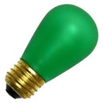 11S14/E26/EMERALD/130V EMERALD GREEN DEEP COLOR, EMERALD GREEN S-14 LIGHT BULBS, EMERALD GREEN S14 LIGHT BULB, GREEN BULBS, GREEN LIGHT BULBS, ADL #L1845