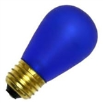 11S14/E26/COBALT/130V COBALT BLUE DEEP COLOR, COBALT BLUE S-14 LIGHT BULBS, COBALT BLUE S14 LIGHT BULB, BLUE BULBS, BLUE LIGHT BULBS, ADL #L1846