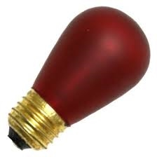 11S14/E26/RUBY/130V RUBY RED DEEP COLOR, RUBY RED S-14 LIGHT BULBS, RUBY RED S14 LIGHT BULB, RED BULBS, RED LIGHT BULBS, ADL #L1848