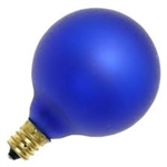 15G16-1/2E12/COBALT/130V COBALT DEEP COLOR GLOBE E12 BASE, COBALT BLUE G16.5 GLOBE, DEEP COLOR GLOBE BULB, DECORATIVE COLORED GLOBE BULBS, 15 WATT G16.5 COBALT BLUE GLOBE BULB CANDELABRA BASE