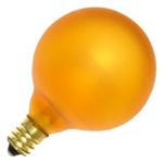 15G16-1/2E12/TOPAZ/130V TOPAZ DEEP COLOR GLOBE E12 BASE, TOPAZ YELLOW G16.5 GLOBE, DEEP COLOR GLOBE BULB, DECORATIVE COLORED GLOBE BULBS, 15 WATT G16.5 TOPAZ YELLOW GLOBE BULB CANDELABRA BASE