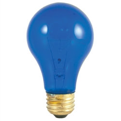 60A19/TRANSPARENTBLUE/120V E26 BASE, 60A19/TB, TRANSPARENT BLUE A19, 60 WATT TRANSPARENT BLUE A19 120 VOLT MEDIUM BASE