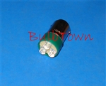 T5.5 36V-130V GREEN L.E.D. MINIATURE BULB BA15D BASE, L.E.D., GREEN LED MINIATURE BULB, L.E.D. GREEN MINIATURE LAMP, GREEN L.E.D. REPLACEMENT MINIATURE BULB