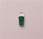 T3-1/4 6V-28V GREEN L.E.D. MINIATURE BULB WEDGE BASE, GREEN L.E.D. MINIATURE BULB WEDGE BASE, GREEN L.E.D., GREEN LED MINIATURE BULB, GREEN L.E.D. MINIATURE LAMP, GREEN L.E.D. REPLACEMENT MINIATURE BULB