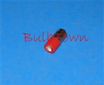 T3-1/4 6V-28V RED L.E.D. MINIATURE BULB BA9S BASE, L.E.D., RED LED MINIATURE BULB, RED L.E.D. MINIATURE LAMP, L.E.D. RED REPLACEMENT MINIATURE BULB
