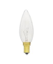 25B10/3/120V 25 Watt B-10 E-14 European Base Bulb, 25 Watt E-14, 25 Watt E14 Base Bulb, European Base, 25 Watt B-10 Torpedo E14 European Base 120 Volt