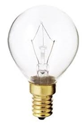 40G14/E14/130V 40 WATT G14 CLEAR EUROPEAN BASE BULB, 40G14 CLEAR E14 BASE, 40 WATT G14 E-14 BASE BULB, EUROPEAN BULBS, EUROPEAN LAMP, E-14 BULBS