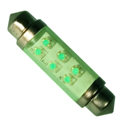LE-0603-02G 12V Green LED Festoon Lamp, JKL #LE-0603-02G, LE-0603-02G