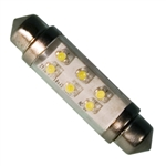 LE-0603-02W 12V White LED Festoon Lamp, JKL #LE-0603-02W, LE-0603-02W