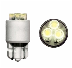 LE-0903-02W T-3 1/4 Flat Top Wedge Based LED 12V White, JKL #LE-0903-02W, LE-0903-02W