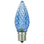 L.E.D. C9 BLUE 120V E17 INTERMEDIATE SCREW BASE,L.E.D. C9 BLUE 120V E17 BASE, LED/C9/BLUE, BLUE LED C9, L.E.D. C-9 BLUE, 5 L.E.D. BLUE C-9 CHRISTMAS BULB INTERMEDIATE E17 BASE 120 VOLT