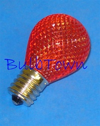 L.E.D. S11 RED 120V E17 BASE,LEDS11N/RED, RED S11N,LED S-11 RED