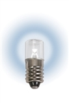 LM1006MS-W LED MINIATURE BULB E10 BASE, T3 1/4 6.3V 0.47W Mini Screw White, #2FNJ2,#448388,#85K8136, LED MINIATURE BULB, L.E.D. MINIATURE LAMP, LED INDICATOR