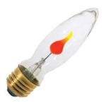 3CA9/FLK/120V 3 WATT FLICKER FLAME BULB E26 BASE, FLAME BULB, FLICKER FLAME, 3CA9/FLK, FLICKER-FLAME, FLICKER FLAME LIGHT BULBS, FLICKER FLAME LAMPS