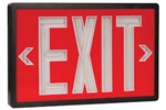 Tritium Exit Sign Red & Black 20 Year 2 Sided, SLXTU2RB20,SELF-POWERED EXIT, SELF LUMINOUS, TRITIUM EXIT SIGNS, NON ELECTRIC EXITS SIGNS, NON-ELECTRIC, GLOW IN THE DARK EXIT SIGNS, NUCLEAR EXIT SIGNS, RADIOACTIVE EXIT