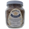 Dark Summer and Fall Harvested Bee Pollen in a 20 oz Jar