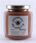 Raspberry Mountain Creme Honey - 14 oz. Hex Jar