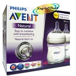 Philips Avent SCF690/27 Natural Feeding Bottle 2 Pack 125ml Anti Colic BPA Free