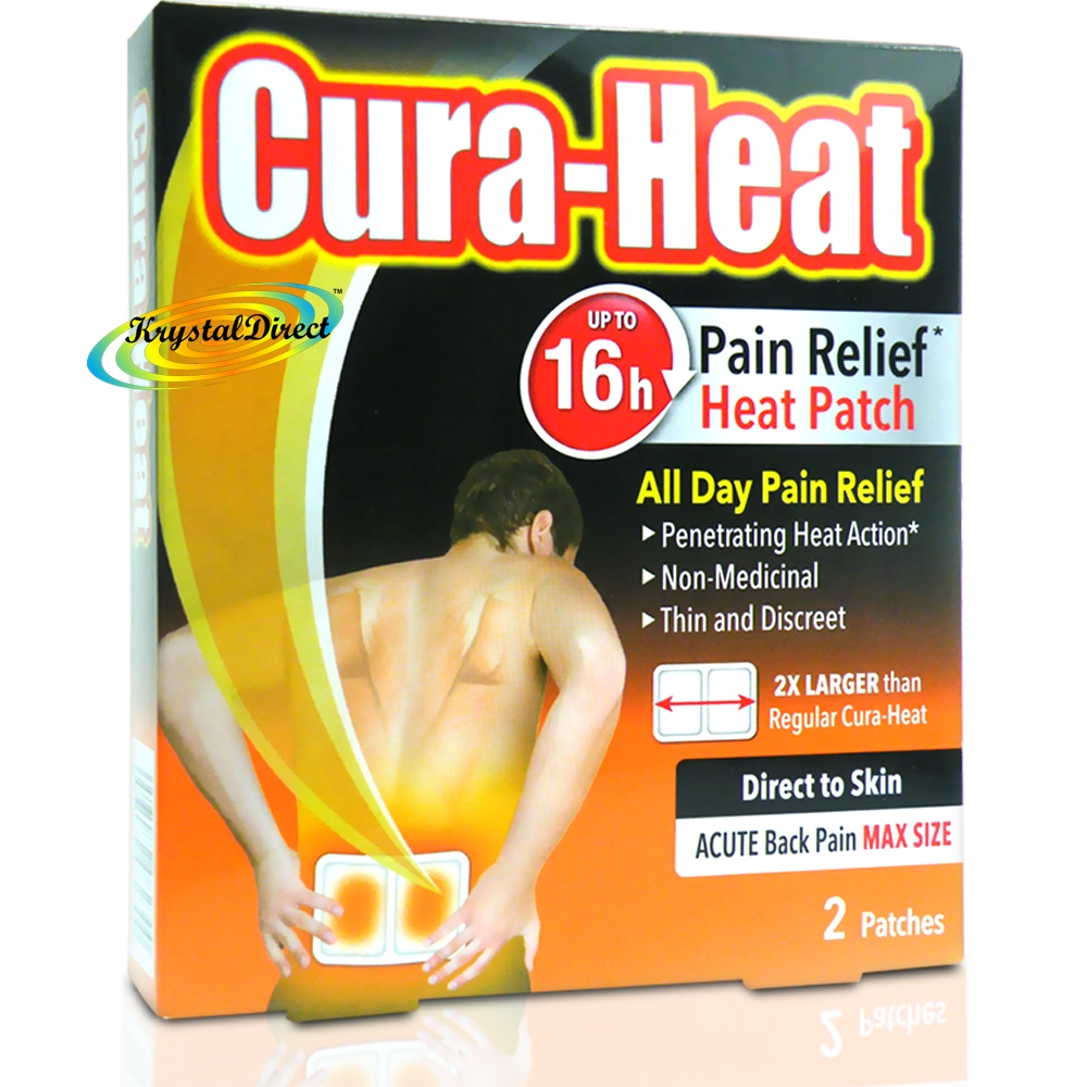Cura Heat Direct To Skin Back Pain Relief Heat Patches 2