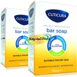 2x Cuticura Mildly Medicated Gentle Cleansing Soap Skin Soothing Allantoin 100g