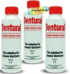 3x Dentural The Modern Denture Cleanser Solution For Cleaner Dentures 250ml
