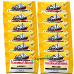 12x Fisherman's Friend Aniseed Menthol Sugar Free Lozenges Sweeteners 25g