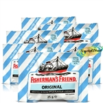 6x Fisherman's Friend Sugar Free Original Menthol Eucalyptus Lozenges 25g