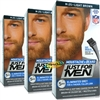 3x Just For Men Moustache & Beard Light Brown M-25