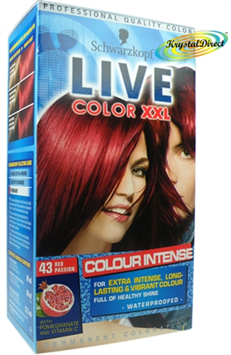 Schwarzkopf Live Color Xxl 43 Red Passion Hair Dye Colour