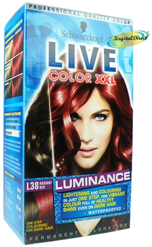 Schwarzkopf Live Color Xxl L38 Radiant Red Hair Colour One