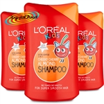 3x L'Oreal Kids CHEEKY CHERRT ALMOND Shampoo 250ml