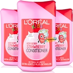 3x L'Oreal Kids Vey Berry STAWBERRY  CONDITIONER - 250ml