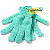 Manicare Spa Reusable Skin Exfoliating Body Bath / Shower / Wash MINT Gloves