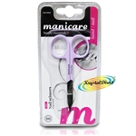 Manicare Nail Scissors LILAC Stainless Steel Extra Fine Blades Precision Cutting