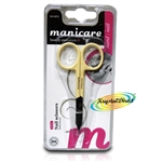 Manicare Nail Scissors YELLOW Stainless Steel Extra Fine Blades Precision Cutting