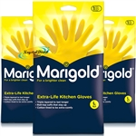 3x Marigold G43Y Extra Life Cotton Lined Stronger Large Size Kitchen Gloves