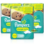 3x Pampers Super Absorbent Baby Children Disposable Change Changing Mats