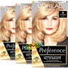 3x Loreal Preference 8 California NATURAL MID BLONDE Permanent Hair Colour Dye
