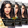3x Loreal Infinia Preference Brasilia 3 DARK BROWN Permanent Hair Colour Dye