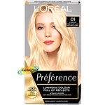 Loreal Preference Les Blondissimes 01 LIGHTEST NATURAL BLONDE Hair Colour Dye