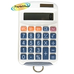 8 Digit Solar Handy Calculator With Hook For Lanyard (Lanyard Not Included)