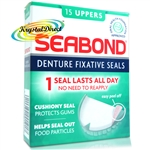Seabond Denture Fixative Seals Original 15 Uppers