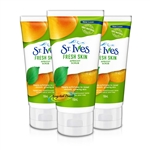 3x St Ives Fresh Skin Invigorating Natural Apricot Face Scrub 150ml Oil Free