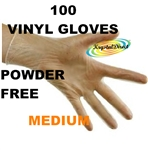 Vinyl Powder Free Gloves - Medium