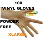 Vinyl Powder Free Gloves - Xtra Large