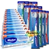 12x Wisdom Addis Smokers Extra Hard Toothbrush And Extra Fresh Mint Toothpaste 50ml